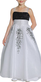 Beautiful Embroidered Flower Girl Gown