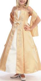 Elegant Thin Strap Flower Girl Gown