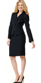 Double Breasted Womens Office Wear | Formal Office Skirt Suit