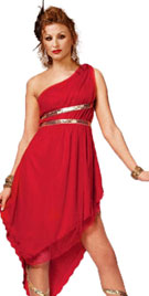 One Shoulder Red Halloween Dress