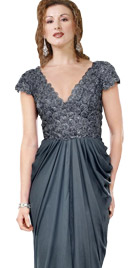 Dazzling Deep V Neckline Thanksgiving Dress