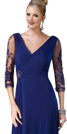 Fascinating Three Fourth Sleeved Dress   Thanksgiving Dresses