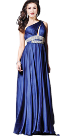 One Shoulder Independence Day Gown