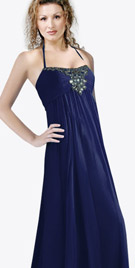 Sophisticated Halter Strapped Evening Gown