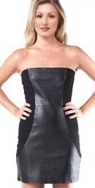 Beautiful Leather Combination Dress