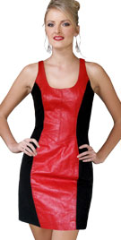 Striking Leather Infused Dress