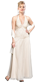 Classy Halter Mother Of The Bride Dress
