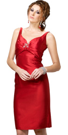 Knee Length Mother Day Dress   Mother Gown