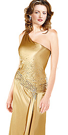 New Attractive One Shoulder Satin Dress
