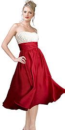 New Elegant And Flirty Strapless Cocktail Dress