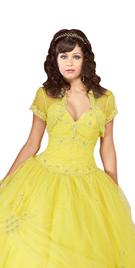New Scalloped Hemline Ball Gown