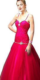 New Beads Sprinkled Ball Gown