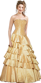 New Classic Tiered Ball Gown