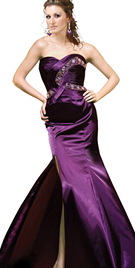 Oversize Beaded Trim New Year Collection Gown