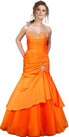 Tiered flared prom dress