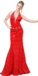 Beaded A-line Prom Dress