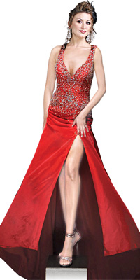 Feminine One Shoulder Red Cocktail Dress