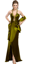 Double Bandeau Back Prom Dress