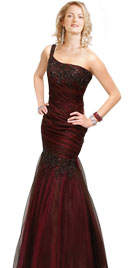One Shoulder Prom Gown   2010 Stylish Prom Dresses