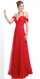 Ruched Flowing Prom Gown | Prom Party Dresses