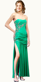 High Slit Prom Gown   Prom Dresses