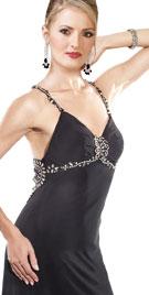 Designer Spaghetti Strap Prom Gown