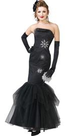 Strapless Satin Beaded black prom Dress