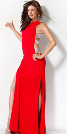 Stylish Stormy High Slits Prom Gown