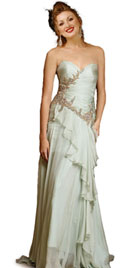 Sizzling Ruffled Long Prom Gowns and Dresses