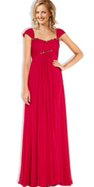 Cap Sleeve Floor Length Prom Gowns Online