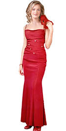 Sexy Red hot prom dress
