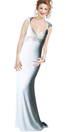 satin white prom party dress