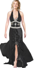 Sparkling Beaded Evening Gown