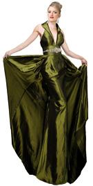 Collar Neck Halter Evening Gown