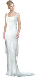 Mermaid sleeveless premium dress in silk chiffon
