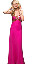 Sequined A-Line Strapless Gown