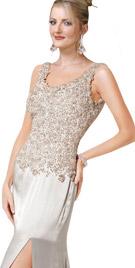 Sleeveless Front Slit Gown | Red Carpet Dresses