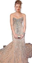 Ashley Greene Inspired Strapless Red Carpet Dress