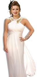 Kim Kardashian Inspired White Red Carpet Dress