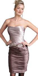 Shutter Pleated Evening Dress