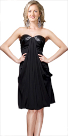 Front Draped Evening Dress | Sex And The City Fashion