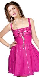 Rectangle Neckline Short Summer Dress