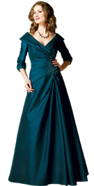 Beautiful Overlapping Neckline Spring Gown | Spring Gowns 2010