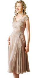 Knee Length Pleated Spring Dress | Online Spring Dresses
