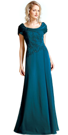Draped Neckline Spring Gown   Spring Collection