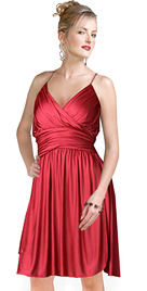 Electrifying short and flirty cocktail dress in silky stretchable satin