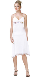 V neck gauze top with silver sequin trim spring summer dress