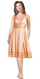 Halter Tie-Up Beaded Evening Dress