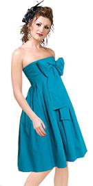 Strapless Bow Detail Dress