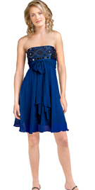 Stylish Empire Tie-up Party Dress